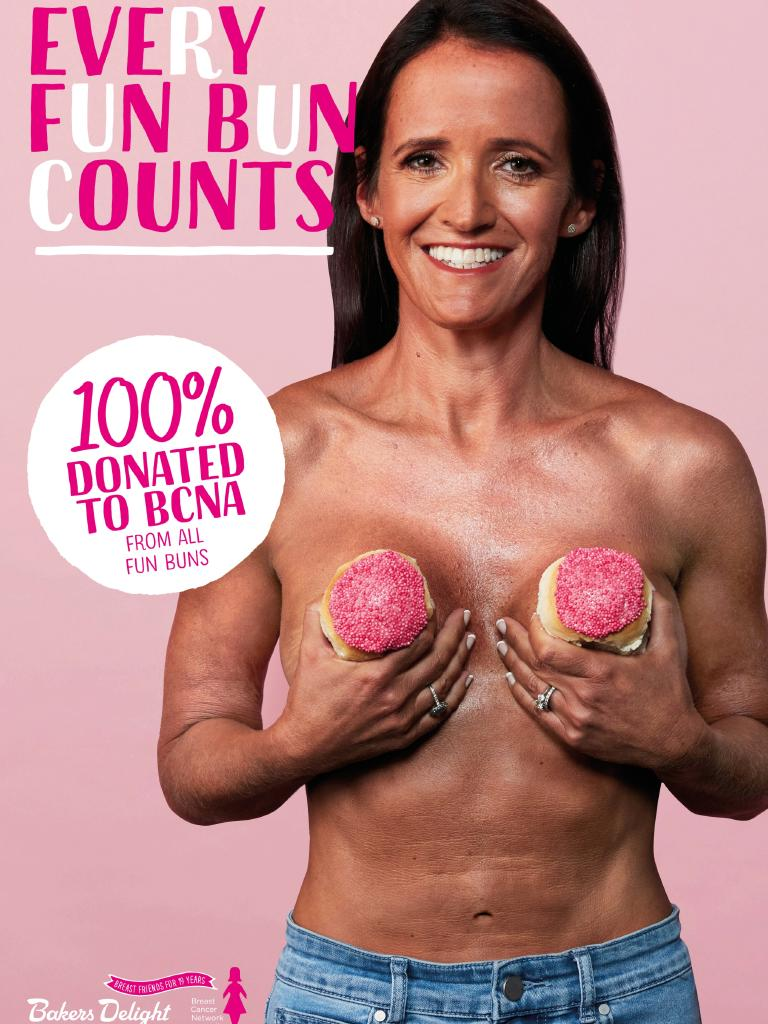 Ten cancer survivors went topless for the annual Pink Buns campaign.