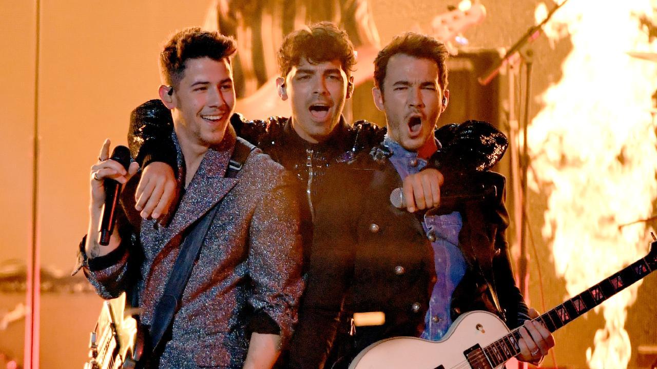 (L-R) Nick Jonas, Joe Jonas, and Kevin Jonas. Picture: Ethan Miller/Getty