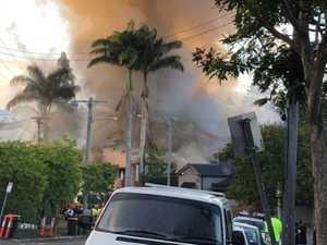 Firefighters battling big fire in inner-Brisbane