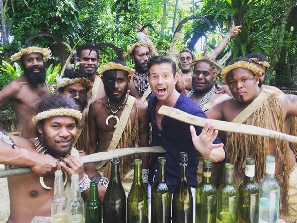 Today Show weatherman Steve Jacobs in Vanuatu.