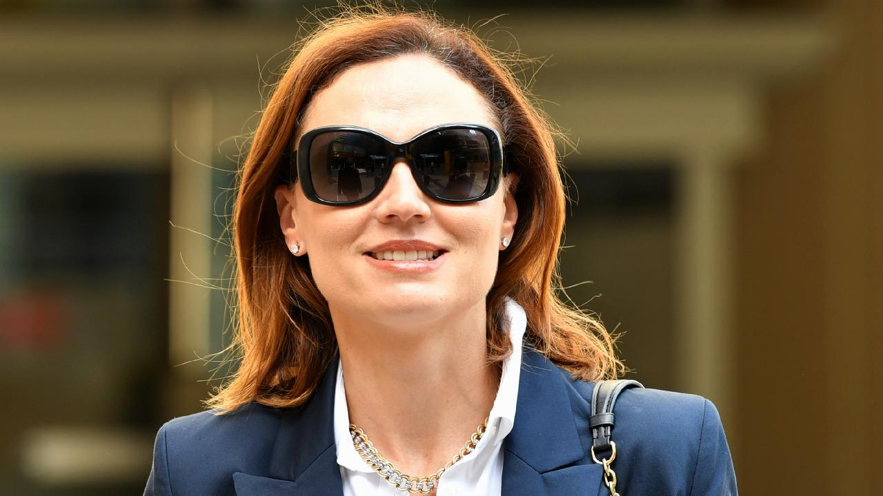 Anna Palmer is seen leaving the Brisbane Federal Court in Brisbane in March. Picture: AAP/Darren England