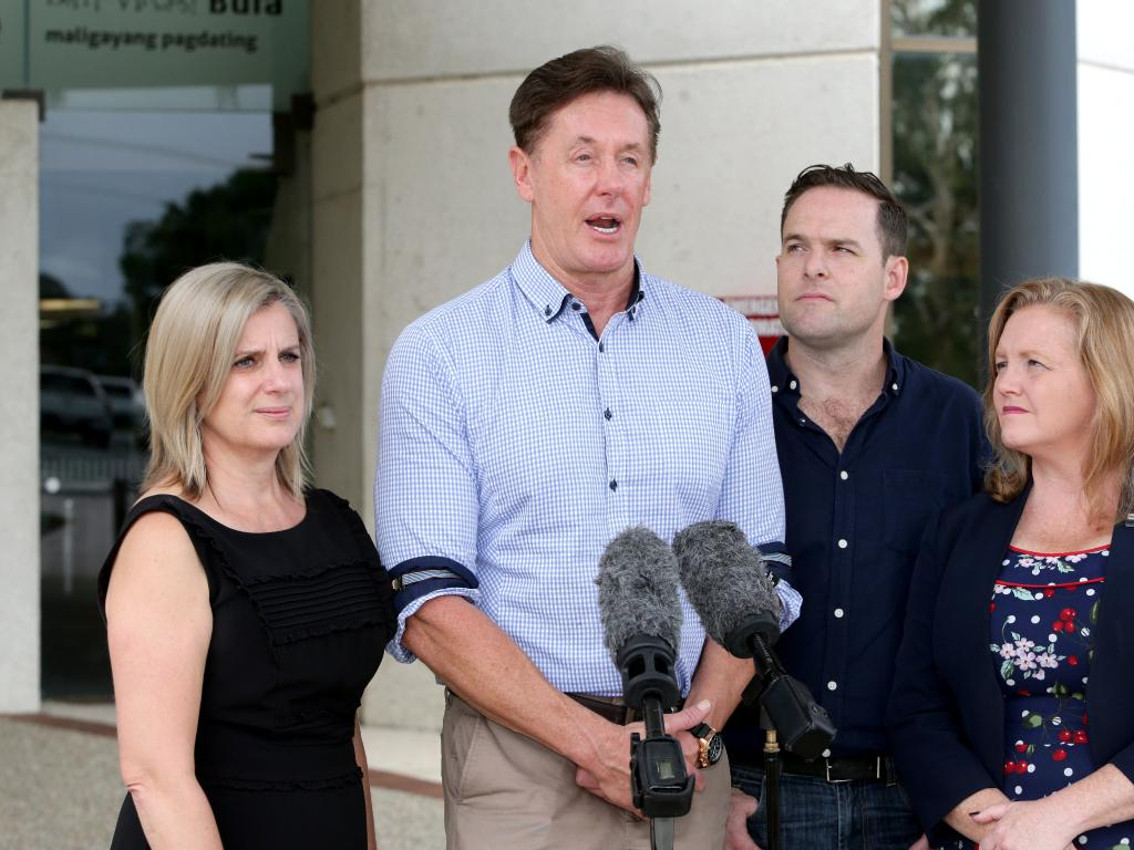 Lisa Bradley Div 1, Darren Power Div 10, Jon Raven Div 5, Laurie Koranski Div 4. They are the four remaining Logan councillors that are expected to be sacked. Picture: AAP/Steve Pohlner