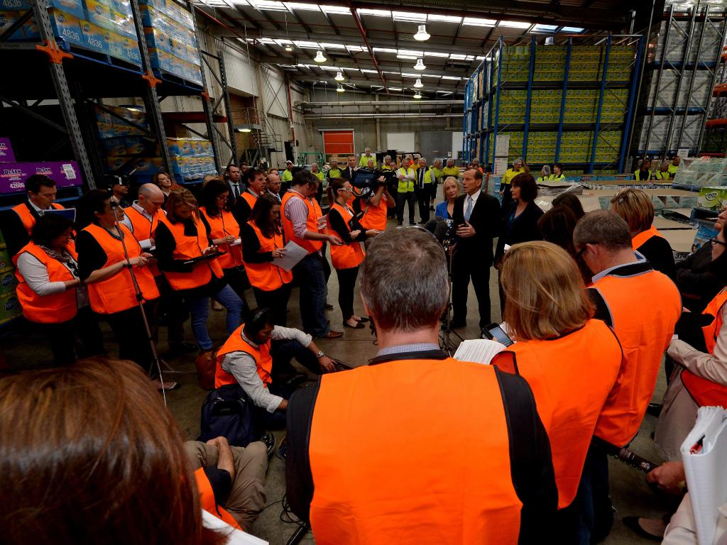 Inside the Trendpac factory in Berkeley Vale, where former prime minister Tony Abbott has been a previous visitor. Picture: Jay Town.