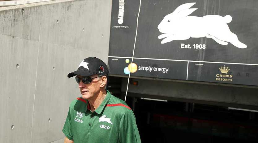 SYDNEY, AUSTRALIA - DECEMBER 04: New South Sydney Rabbitohs Coach Wayne Bennett walks out of the tunnel during a Sydney Rabbitohs training session at Redfern Oval at Redfern Oval on December 4, 2018 in Sydney, Australia. (Photo by Mark Kolbe/Getty Images)
