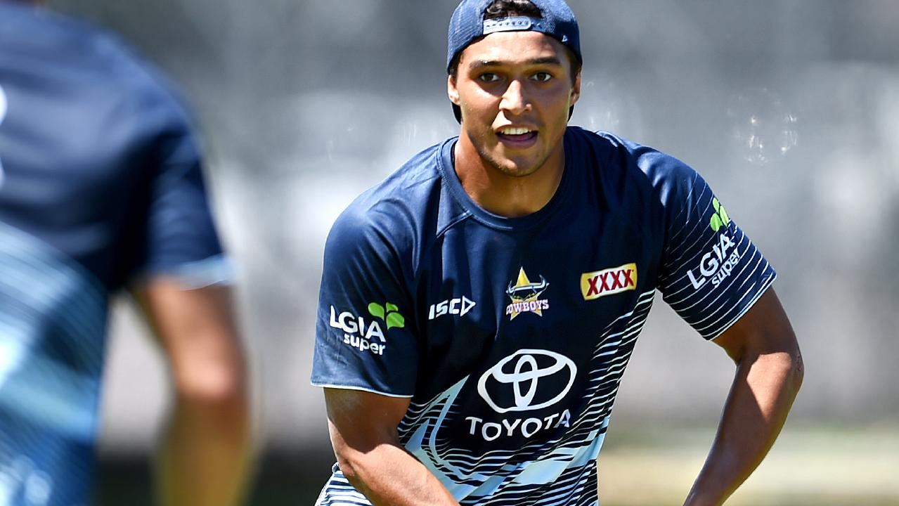 Te Maire Martin. NRL; North Queensland Cowboys pre season training at Townsville Sports Reserve. Picture: Alix Sweeney