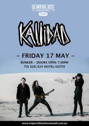 KALLIDAD will be performing at The Imperial Hotel Eumundi on Friday 17 May - supported by FLASKAS