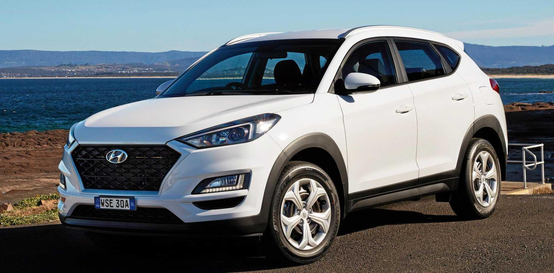 The 2018 model Hyundai Tucson Go.
