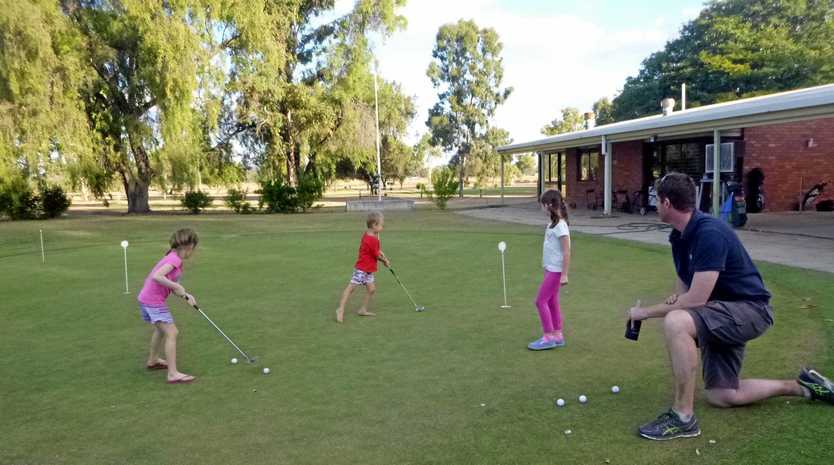 ON THE BALL: Golf appeals to players of all ages.