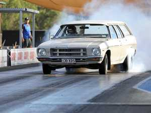 UP TO CHALLENGE as drag racers goes for three fast passes