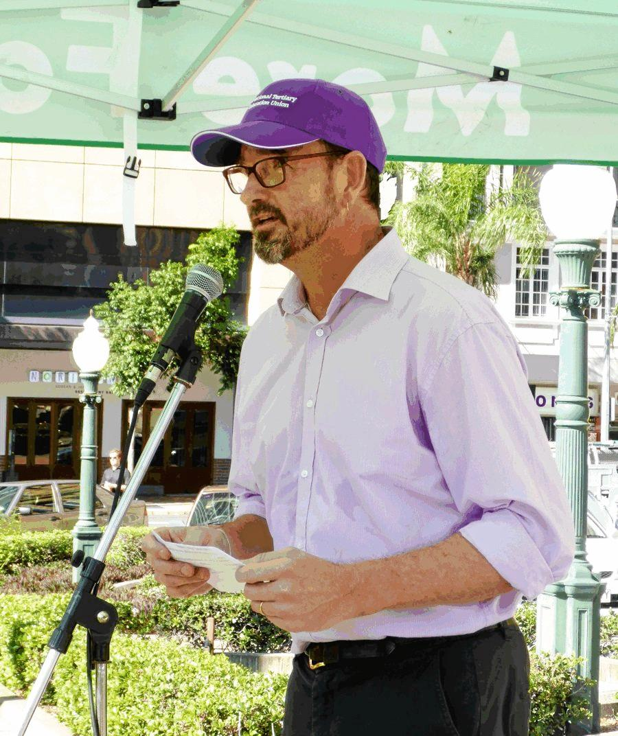 TAKING ACTION: National Tertiary Education Union Queensland Division Secretary Michael McNally.