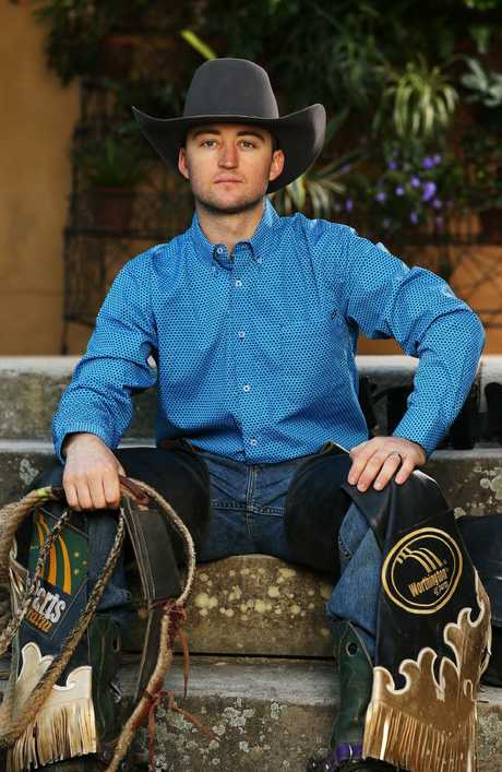 Professional bull riding champion Troy Wilkinson. Picture: Rohan Kelly