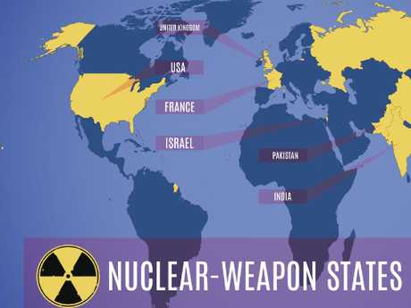 Map of nuclear weapon states (NWS). Picture: istock