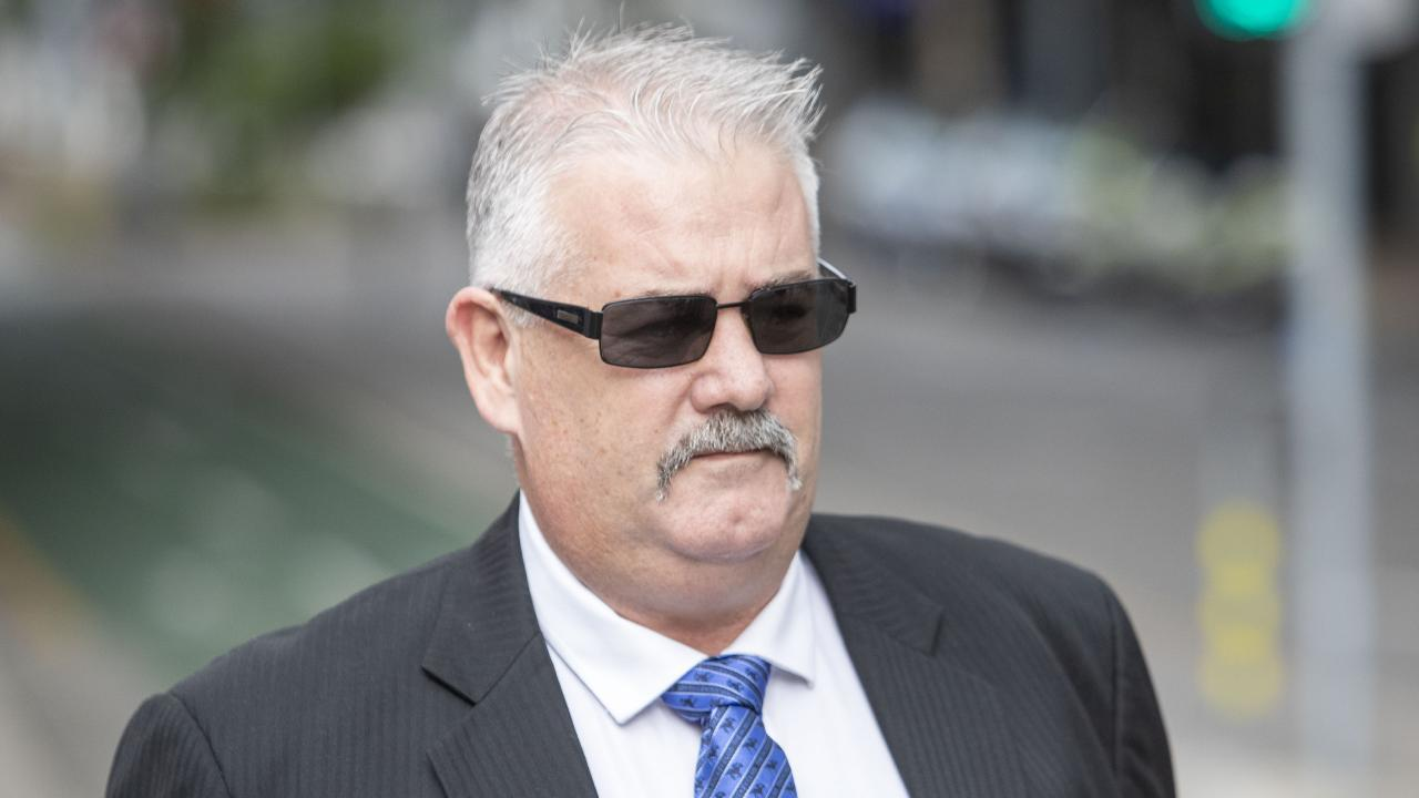 Ipswich City Council contractor Wayne Francis Innes arrives at the Brisbane District Court this week. Picture: Glenn HuntAAP
