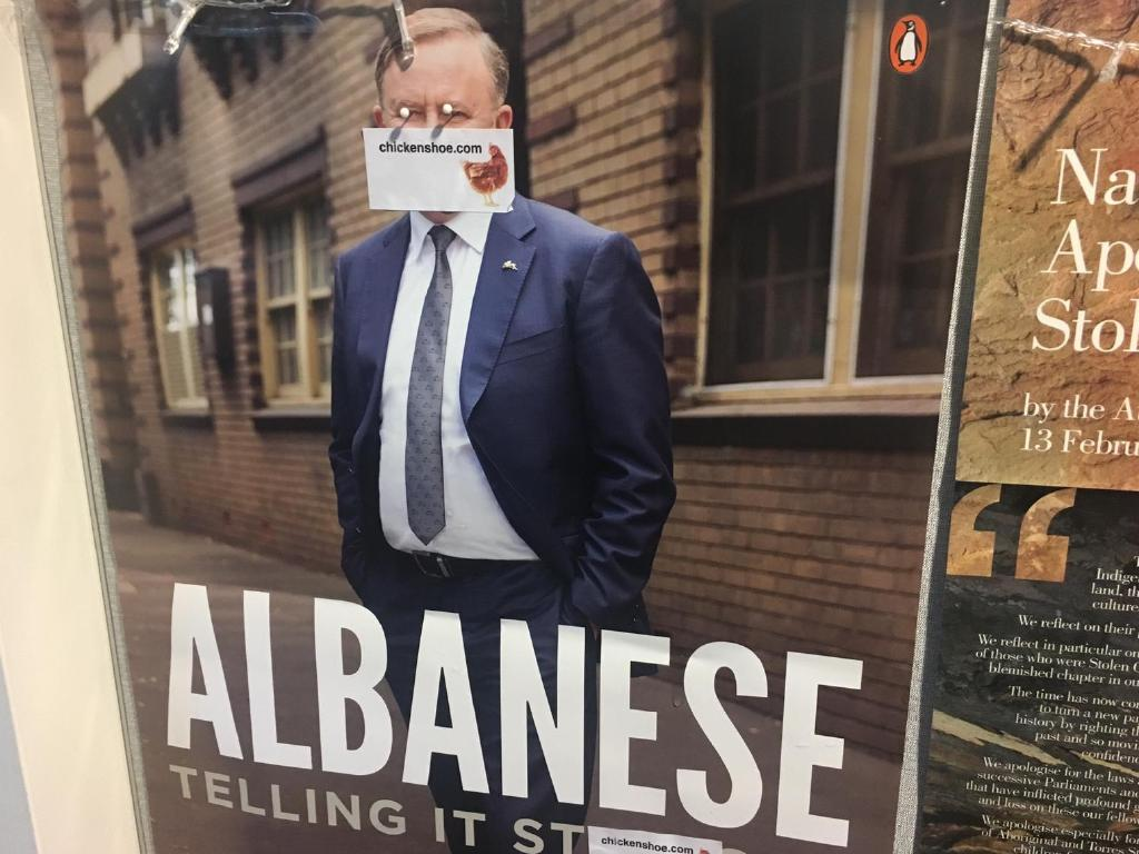 Anthony Albanese's office in Marrickville defaced. Picture: Adella Beaini