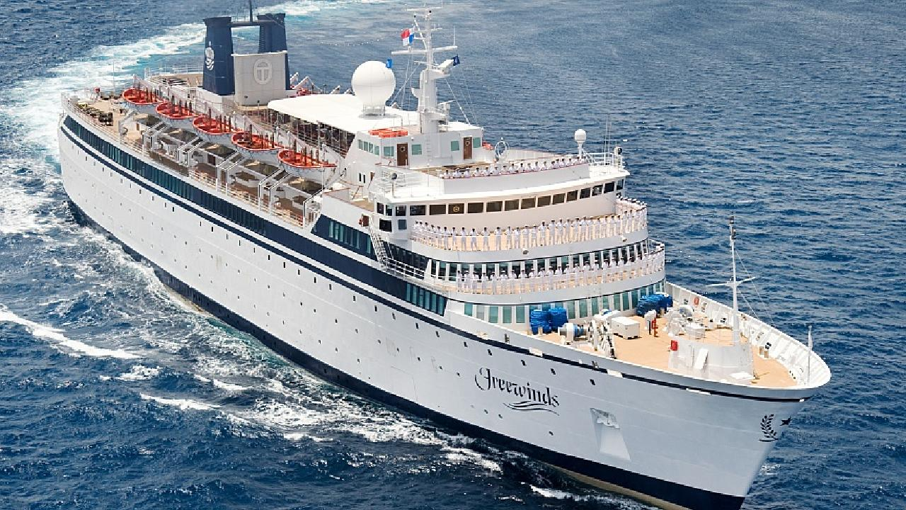 The Scientology ship Freewinds has been quarantined because of a measles outbreak.