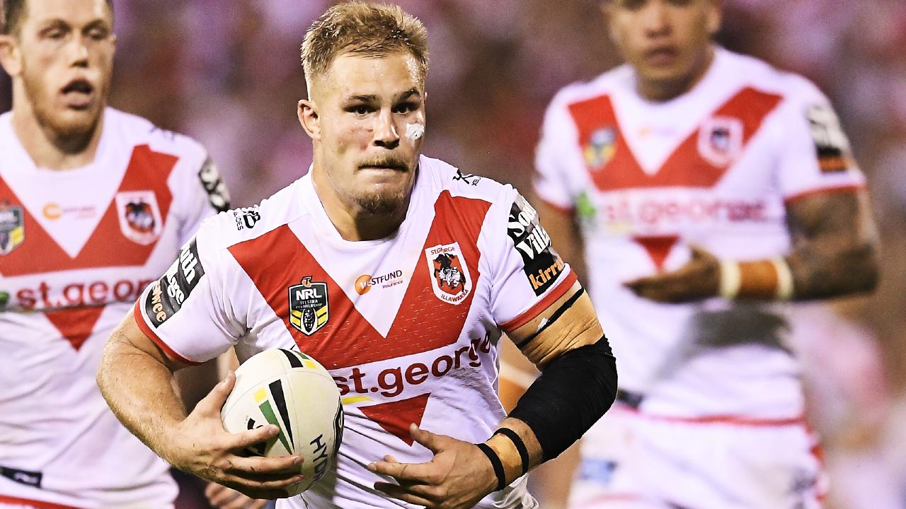 Jack De Belin playing for the Dragons last year.