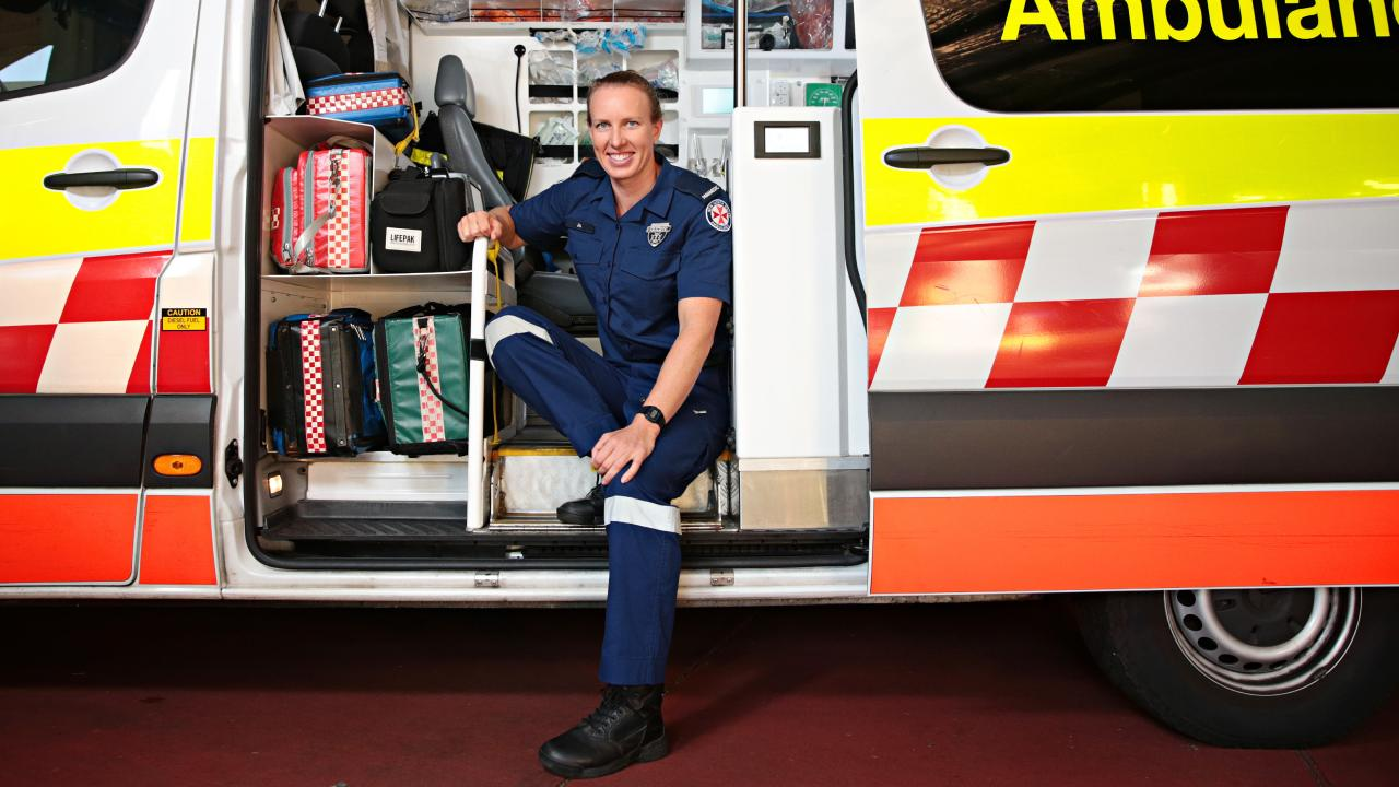 Jo Brigden-Jones also loves here work in the Balgowlah Paramedic unit. Picture: Adam Yip