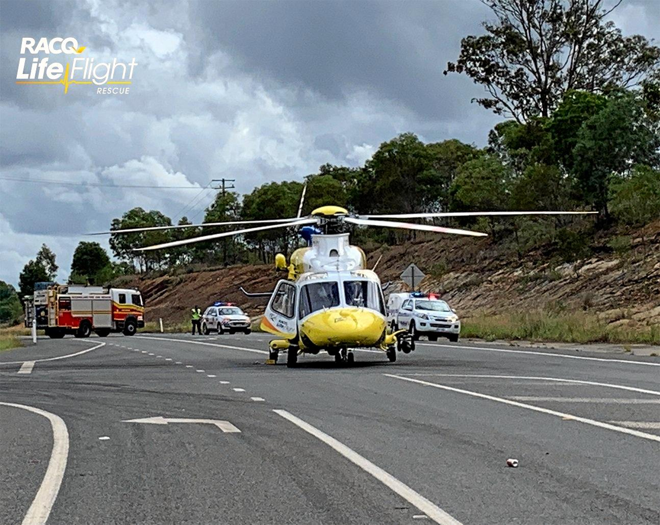 A Stanthorpe woman is in a critical condition following a crash on the Boonah-Beaudesert Road, Wyaralong at about 11am yesterday.