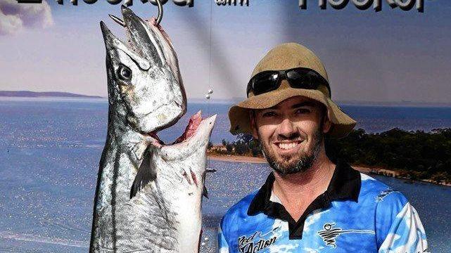 Robert Warren caught the largest Spanish mackerel on day one of the Boyne Tannum HookUp.