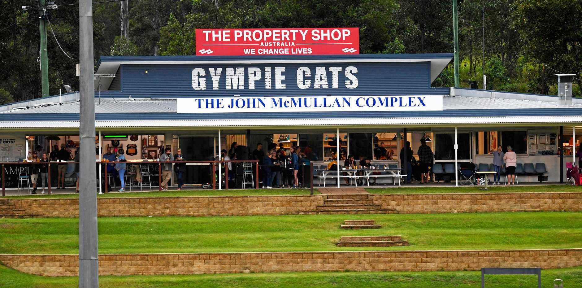 SPECIAL DAY: The Gympie Cats have renamed their clubhouse the John McMullan Complex in honour of the club's founder.
