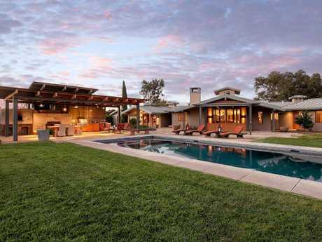 Olivia Newton-John's ranch in California. Picture: Village Properties