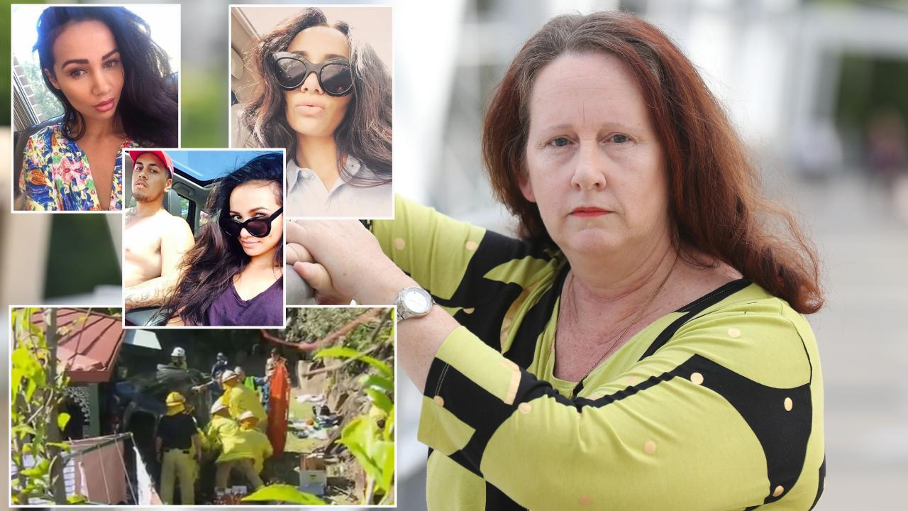 Chondra Jansen, right took the haunting triple-0 call from Tara Brown. Ms Brown was killed by her ex-partner Lionel Patea, who she is pictured right inset middle.