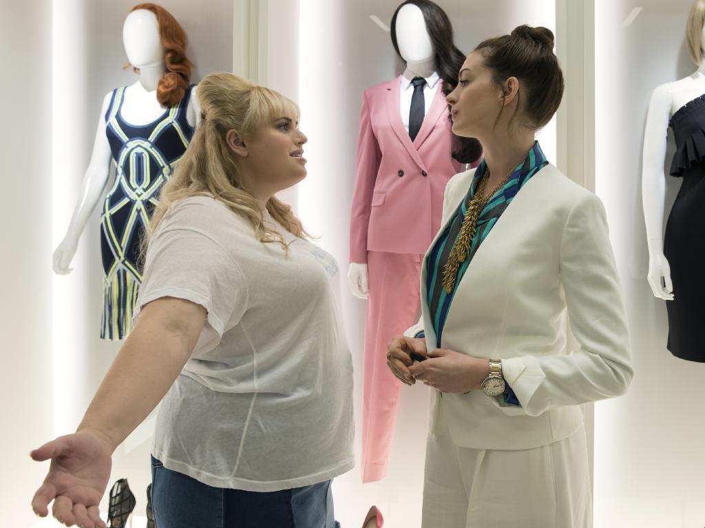 "Hathaway loved working with ""improv queen"" Rebel Wilson."