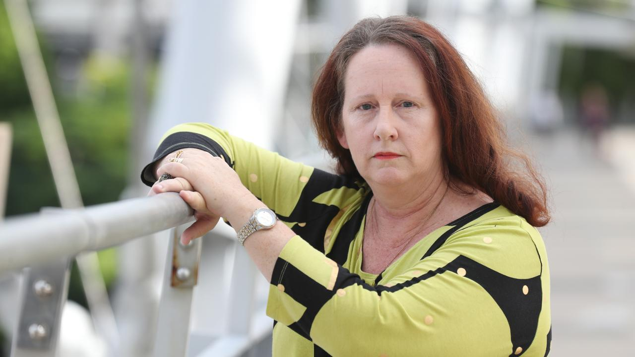 Chondra Jansen, a former police call centre dispatcher, says she suffered post traumatic stress as a result of taking the triple-0 call from Tara Brown. Picture: Annette Dew