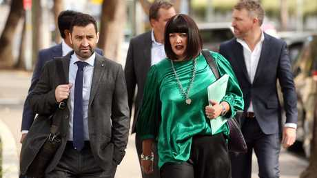 Waratahs chief executive Andrew Hore and Rugby Australia boss Raelene Castle arrive. Picture: Tim Hunter