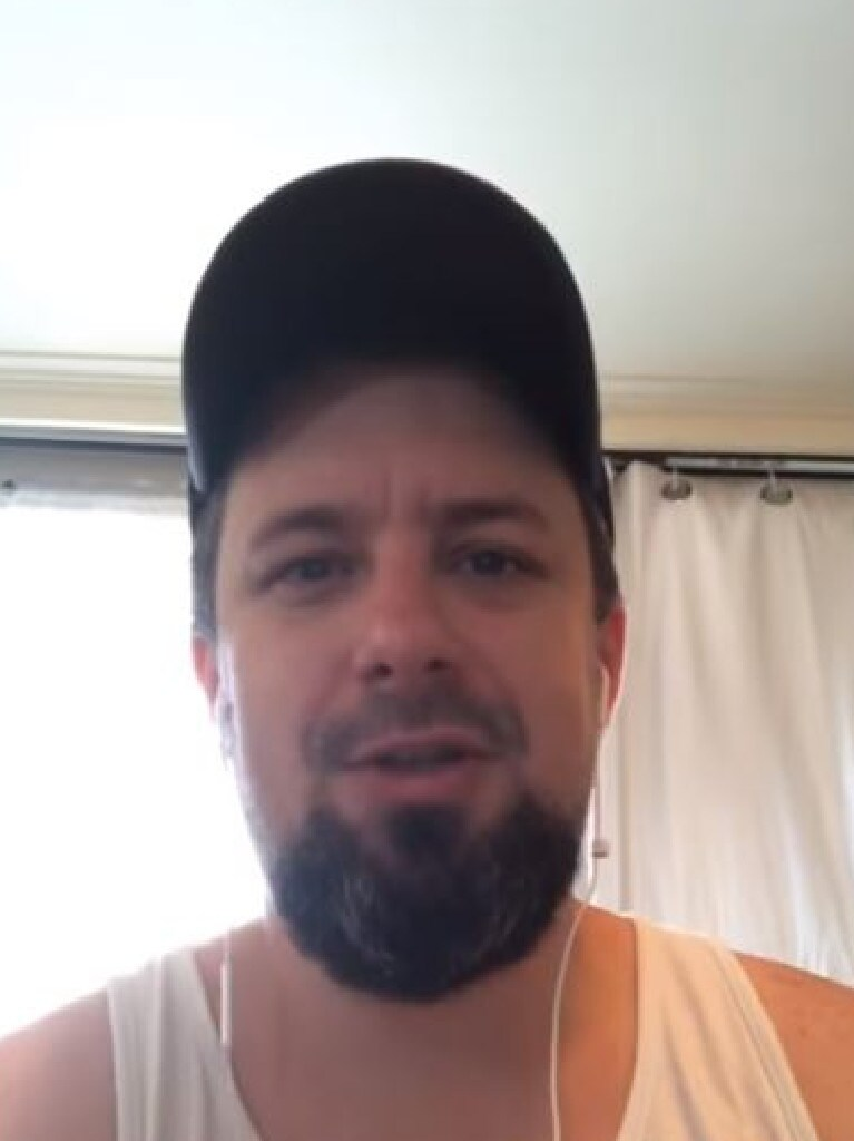 A screen grab from the YouTube video of far-right figure Neil Erikson accusing high-profile Queensland conservative David Goodwin of being behind the push to recruit members from the far right into the LNP in order to take control over the party.