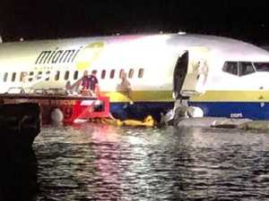 'Terrifying' as Boeing skids in to river