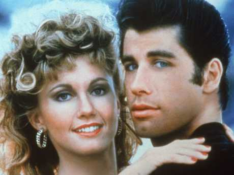Newton-John and John Travolta in a promotional still for the film Grease in 1978. Picture: Getty