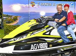'Grateful': Jet ski winner quick to take prize for a spin