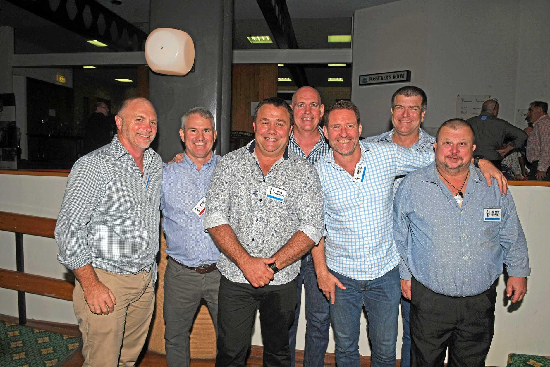 Gympie Brothers Reunion - Noel Brennan, John Cartwright, Rob Crawford,  Ben Carroll, Brett Gerrard,  Andrew Mason, Brett Edwards ( undefeated U16 premiers 1984 )