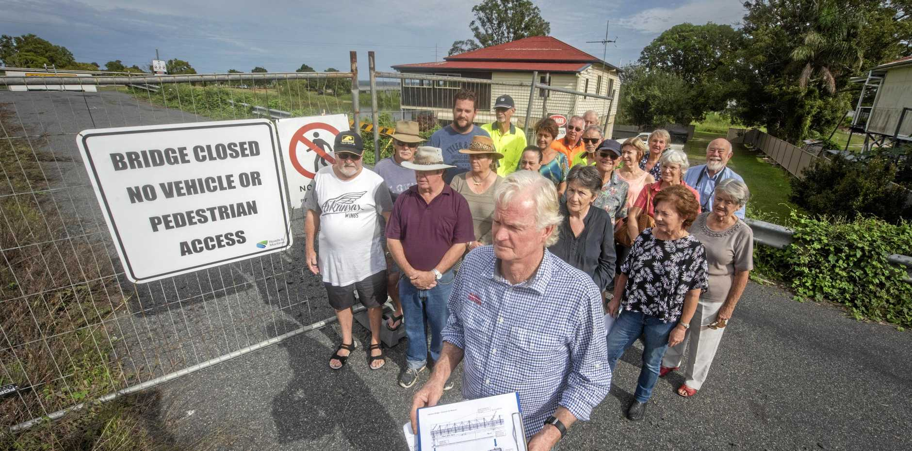 Lawrence Museum president Robert Forbes and other concerned local residents angry over apparent RMS backflip over donating portions of the Sportsman Creek Bridge to the museum.
