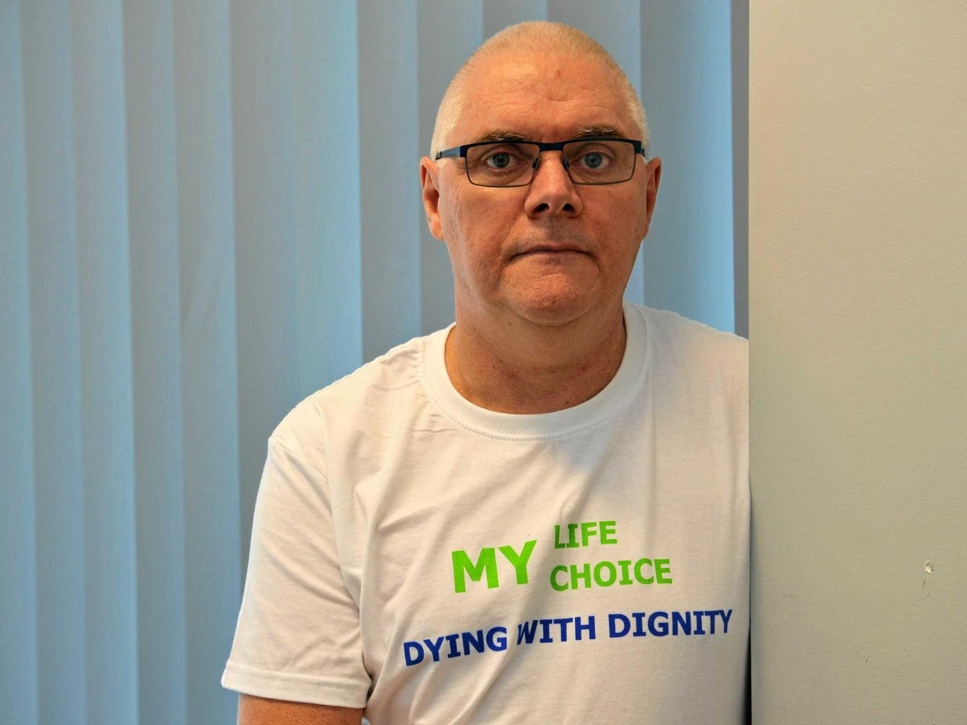 INFO SESSION: Dying With Dignity Hervey Bay co-ordinator Phil Browne.