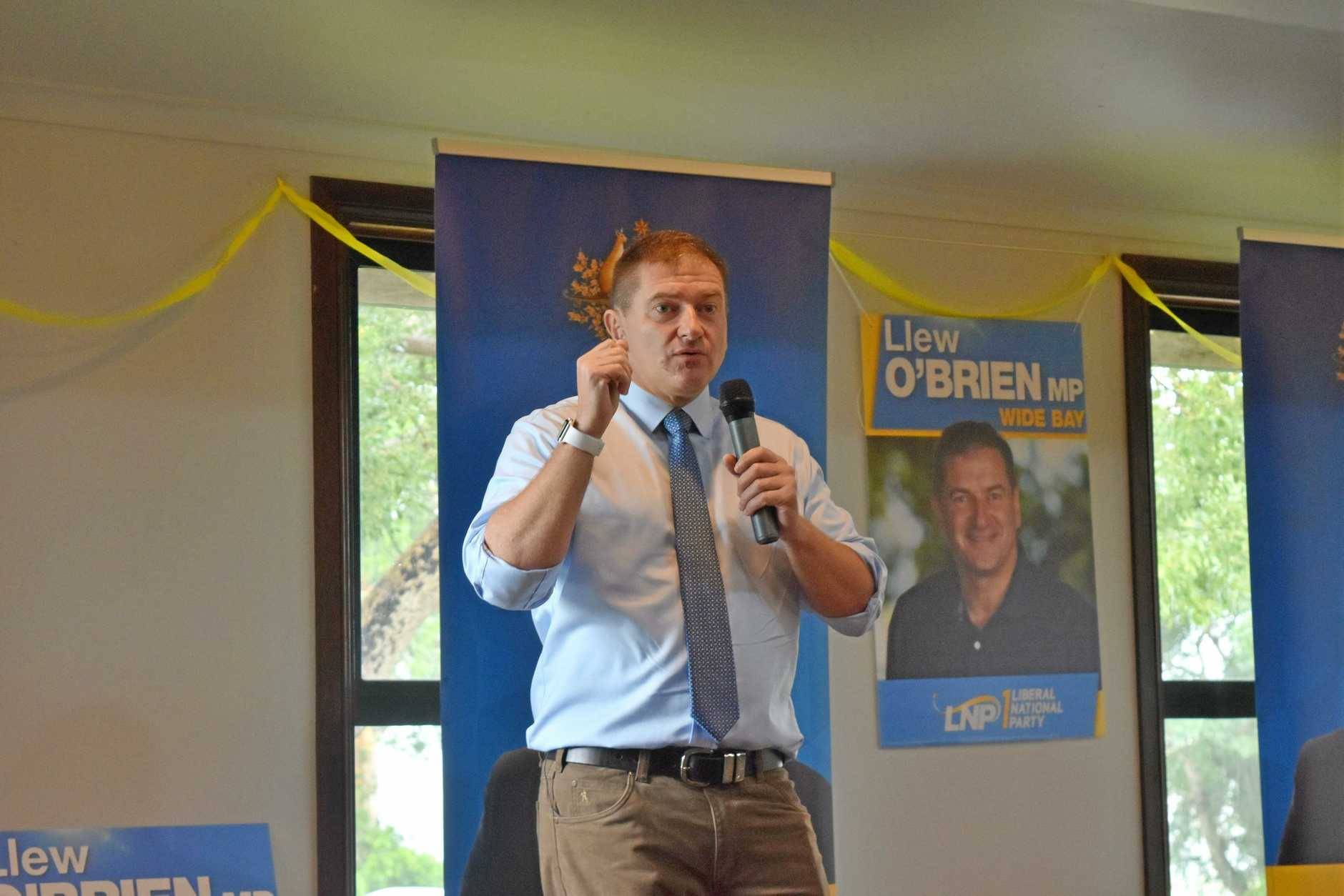 Member for Wide Bay Llew O'Brien.