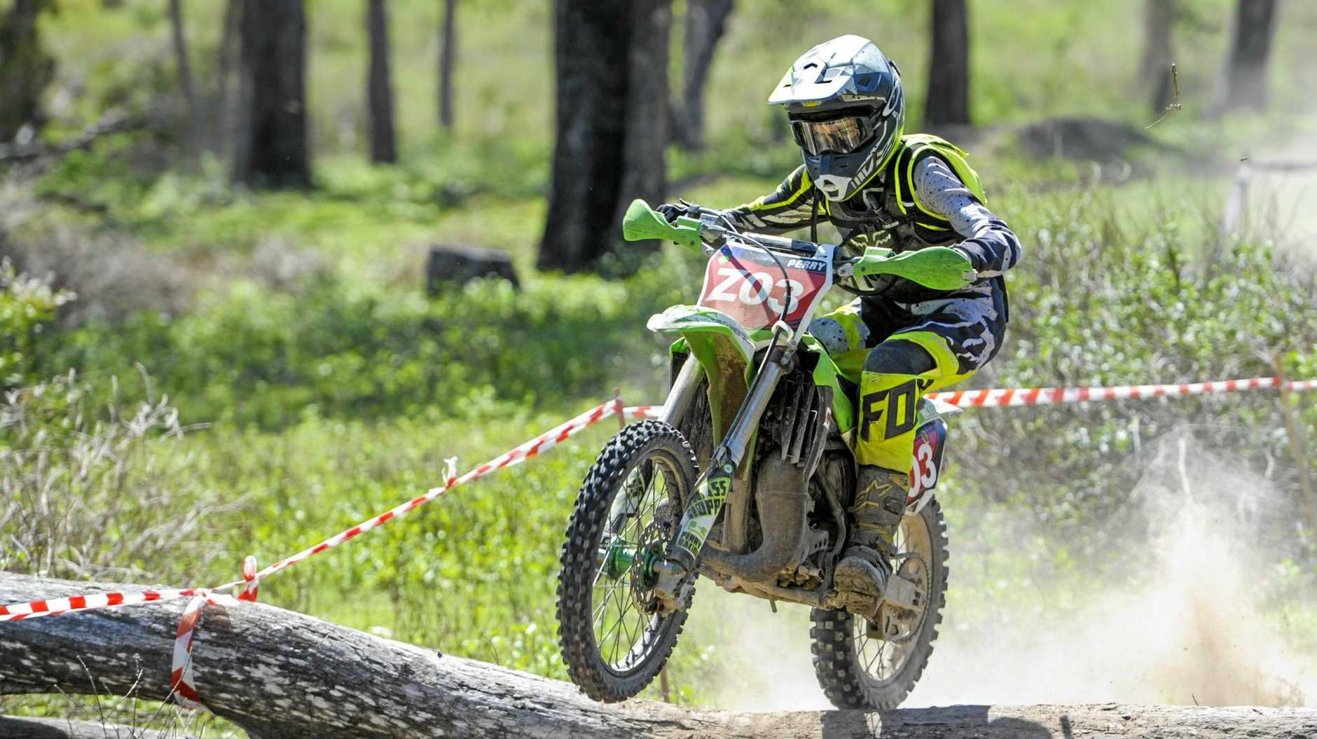 BIG EVENTS AHEAD: Zac Perry at the CQ Off-Road Interclub Series in November 2017.