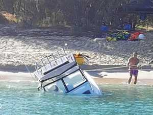 A series of unfortunate events to save sinking boat