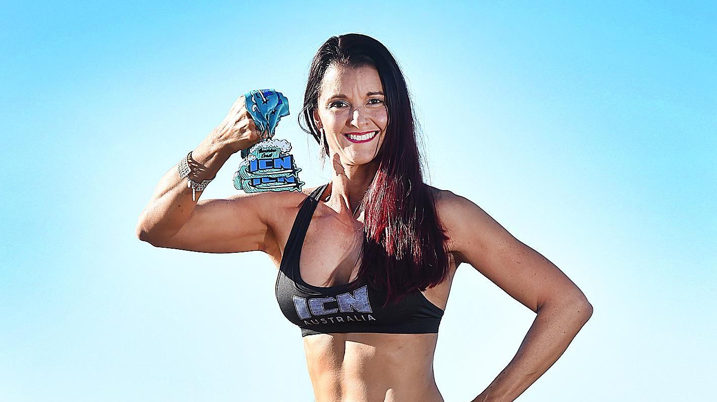 WHAT A WIN: Hervey Bay body builder Samantha Browne.