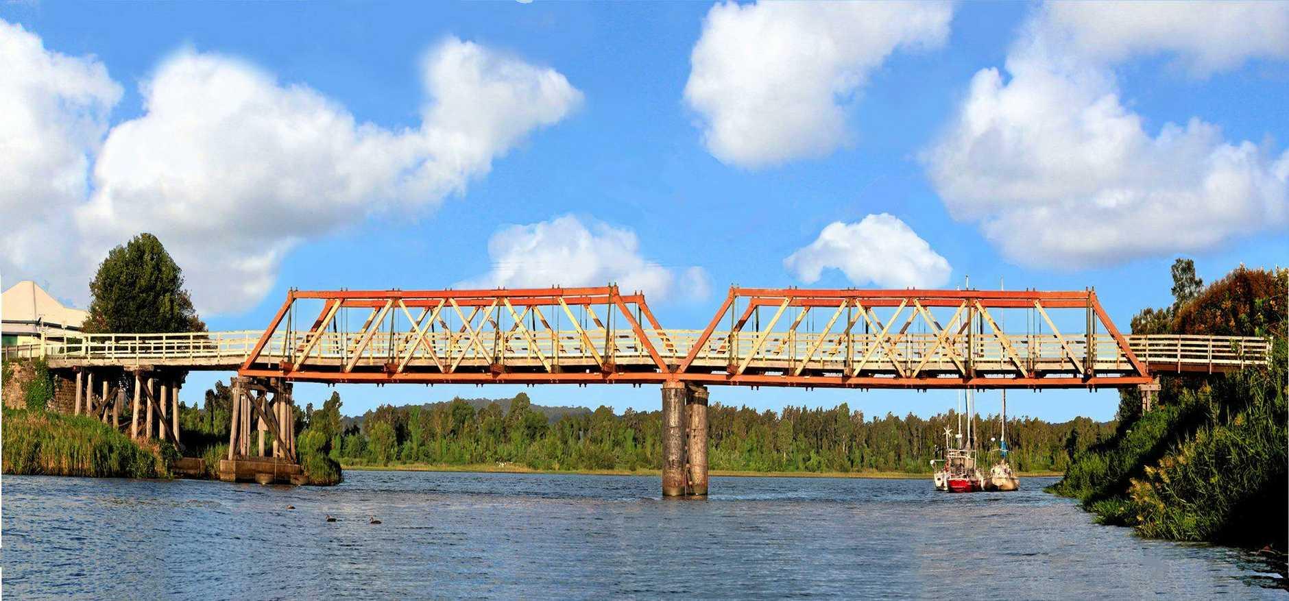 GONE BUT NOT FORGOTTEN: One of many stunning photos John Ibbotson has taken of the old Sportsmans Creek bridge.