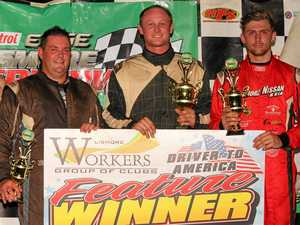 Hat-trick of state titles for local wingless speedway racer