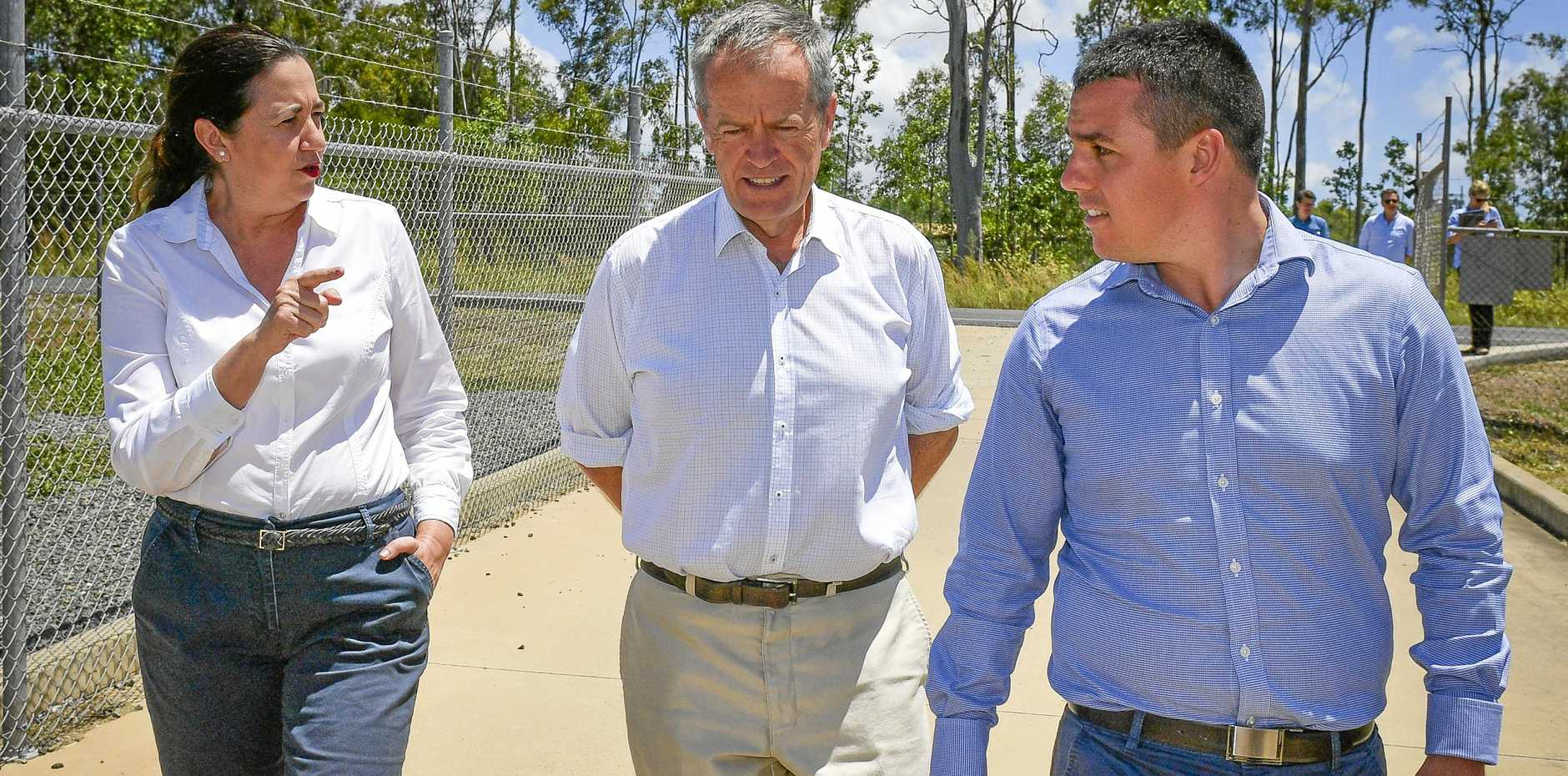 ROAD UPGRADE: If Premier Annastacia Palaszczuk (left) contributes $15million, and Labor lead by Opposition Leader Bill Shorten wins the federal election, Labor's candidate for Flynn Zac Beers will be able to deliver a much needed upgrade to Lawrie St in Gracemere.