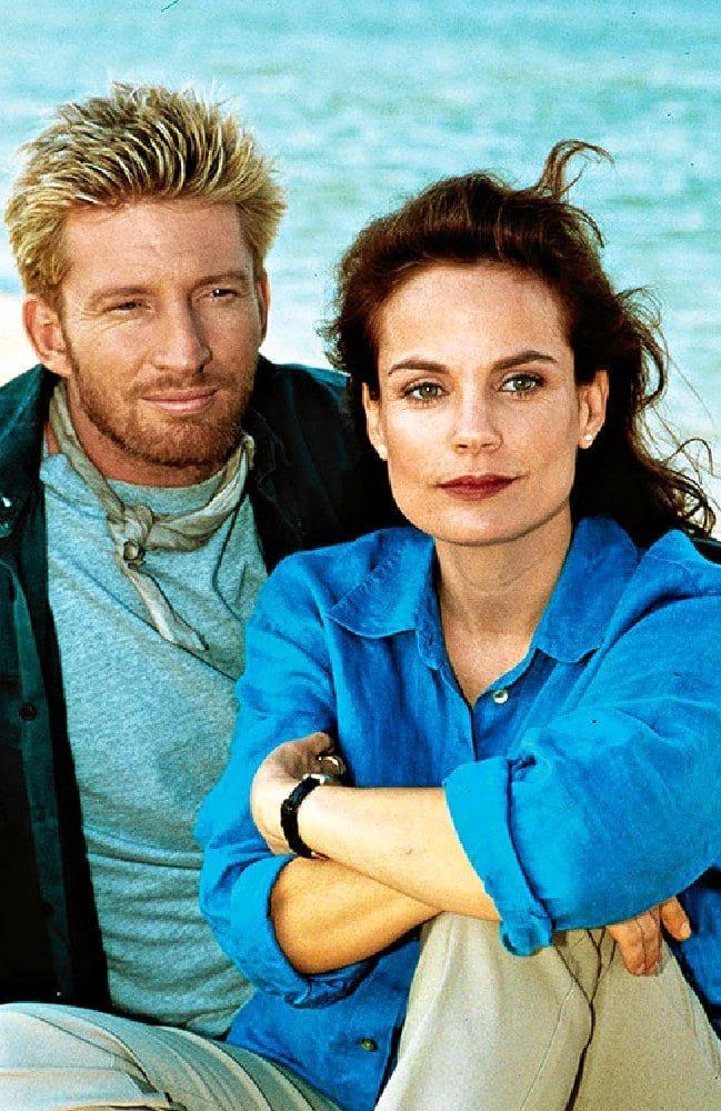 David Wenham and Sigrid Thornton in a scene from the TV series SeaChange.