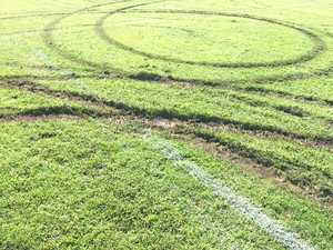 How did vandals damage Gracemere sport field?