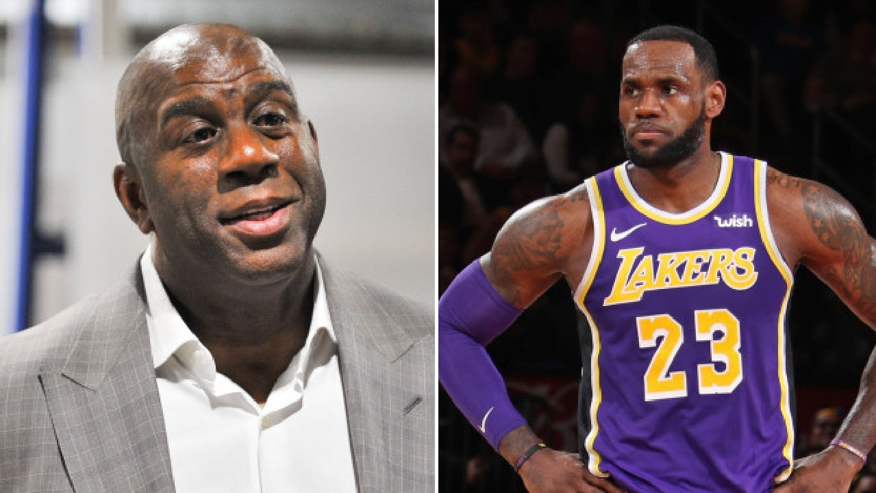LeBron James was stunned when Magic Johnson stepped down from the Lakers.