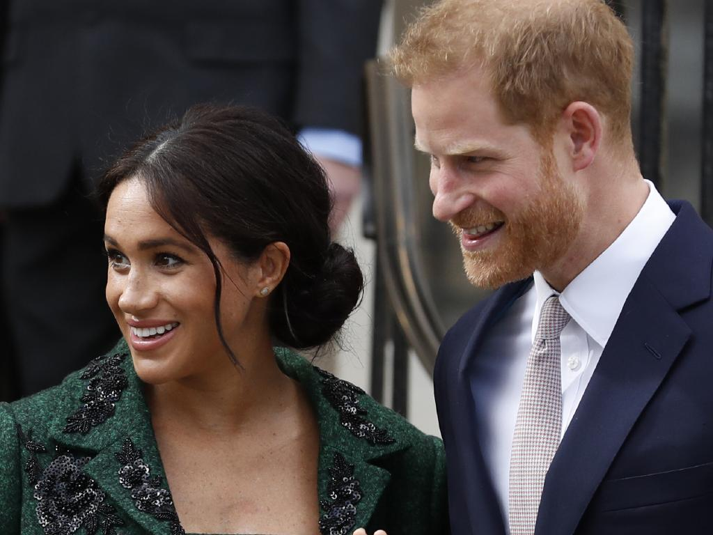 Meghan and Harry have welcomed their first child. Picture: AP Photo/Alastair Grant