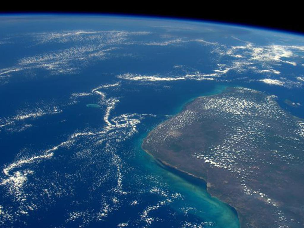 66 million years ago an asteroid struck this peninsula 66 million years ago and wiped out most life on Earth. Picture: NASA