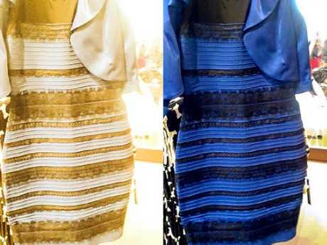 This dress sparked a similar debate back in 2015, with many thinking the blue and black dress was in fact white and gold.