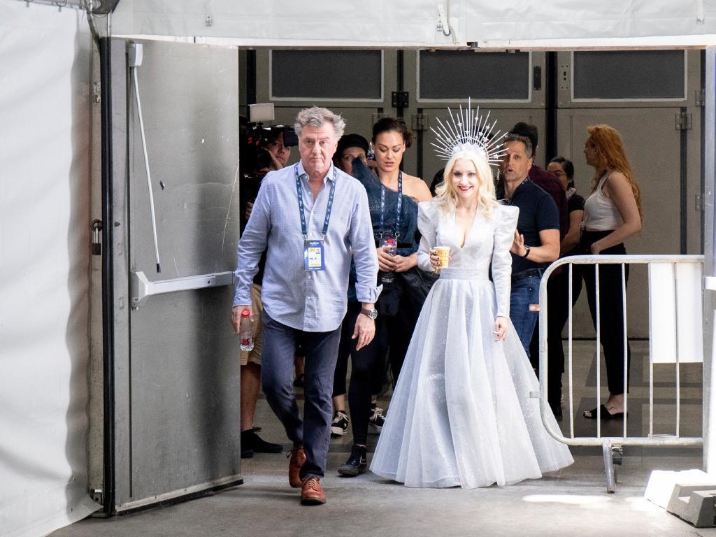 Sydney designer Steven Khalil has created Kate's Eurovision costume. Picture: Eurovision.tv